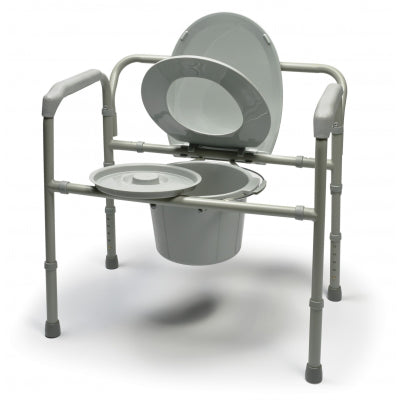 Lumex Bariatric Adj Steel Folding Commode Wealcan