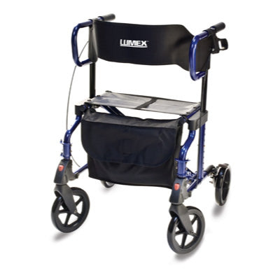 Lumex Hybrid LX Rollator Transport Chair - Wealcan