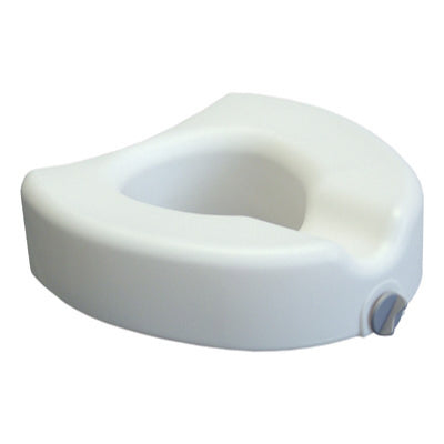 Lumex Locking Raised Toilet Seat - White E0244 - Wealcan
