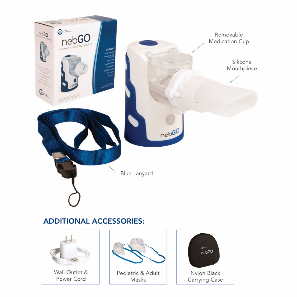 Roscoe nebGO Ultrasonic Handheld Nebulizer - Wealcan