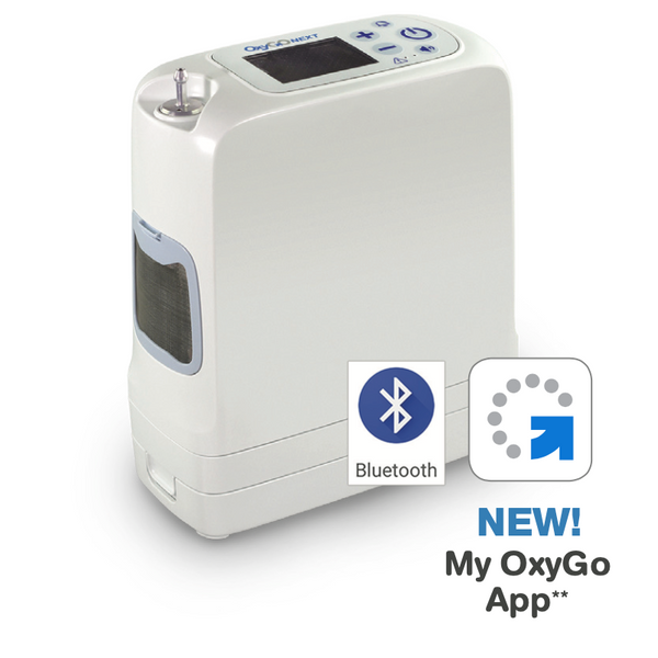 OxyGo NEXT 6 Pulse Portable Oxygen Concentrators With Two 16 Cell Battery