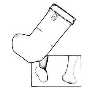 Seamless Partial Foot Socks - No Heel, Each