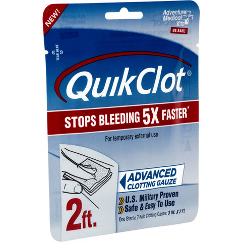 "QuikClot Advanced Clotting Gauze 3""x 2'"
