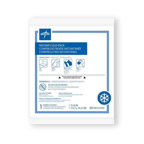 "Standard Instant Cold Packs 4.75"" x 6.25"" - 50 Each (CS)"