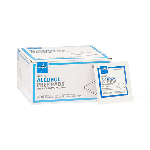 Alcohol Prep Pads, Sterile - Medium 2-ply 200/bx