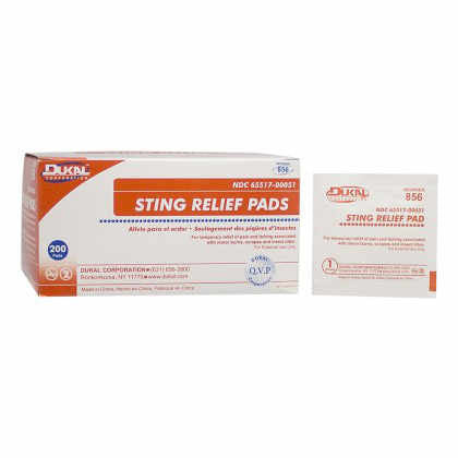 Sting Relief Pads, Antiseptic Cleansing Wipes 200/Bx - Wealcan
