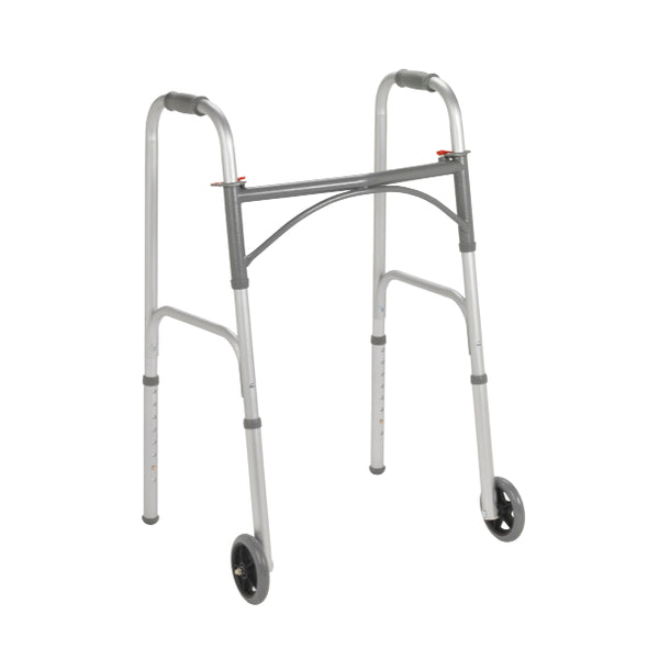 "Drive Folding Junior Walker Two Button 5"" Wheels - Wealcan"