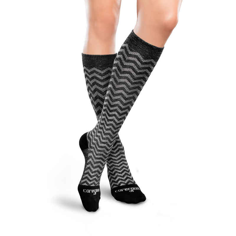 Patterned CoreSpun Socks 20-30 mmHg - Unisex - Wealcan