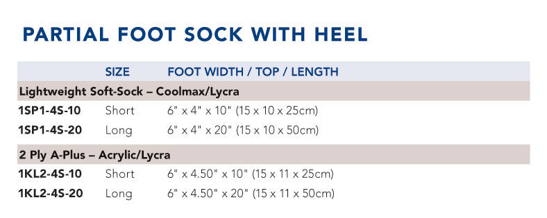 Seamless Partial Foot Socks - With Heel, Each - Wealcan