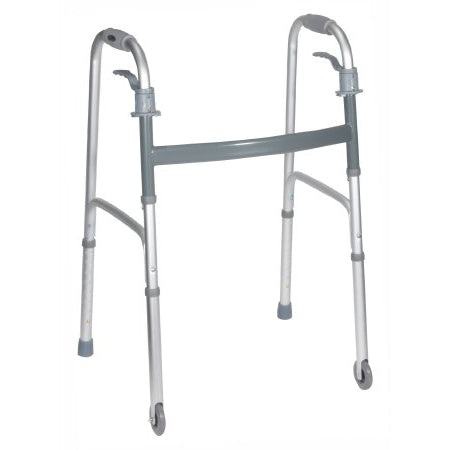 "Drive Deluxe Dual Release Folding Walker 3"" Wheels - Wealcan"