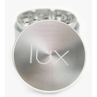 "2.2"" Aluminum 4-Piece Herb Grinder - (Silver) - The Lux Brand"