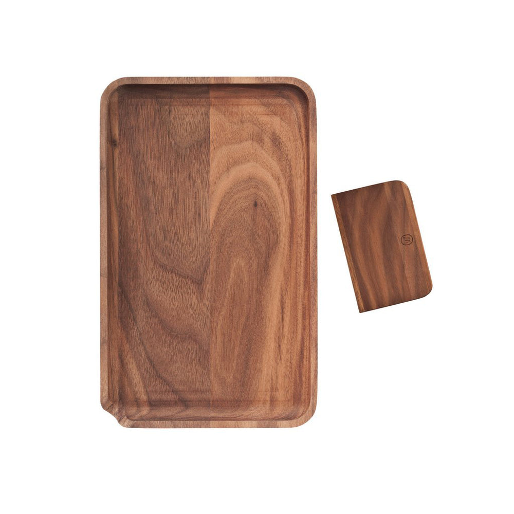 Marley Natural Black Walnut Rolling Tray - The Lux Brand