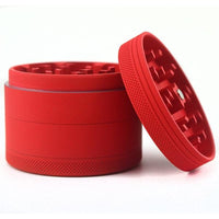"2.5"" Aluminum 4-Piece Grinder - (Matte Red) - The Lux Brand"