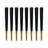 Designer Pre-Rolled Cones (Black/Gold) | 8-Cone Pack - The Lux Brand
