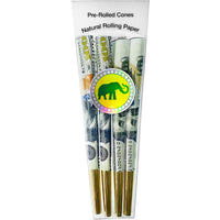 Designer Pre-Rolled Cones (Money to Burn) XL | 4-Cone Pack - The Lux Brand