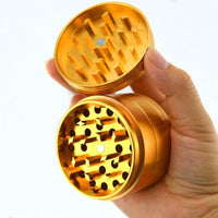 "2.5"" Aluminum 4-Piece Grinder - (Gold) - The Lux Brand"