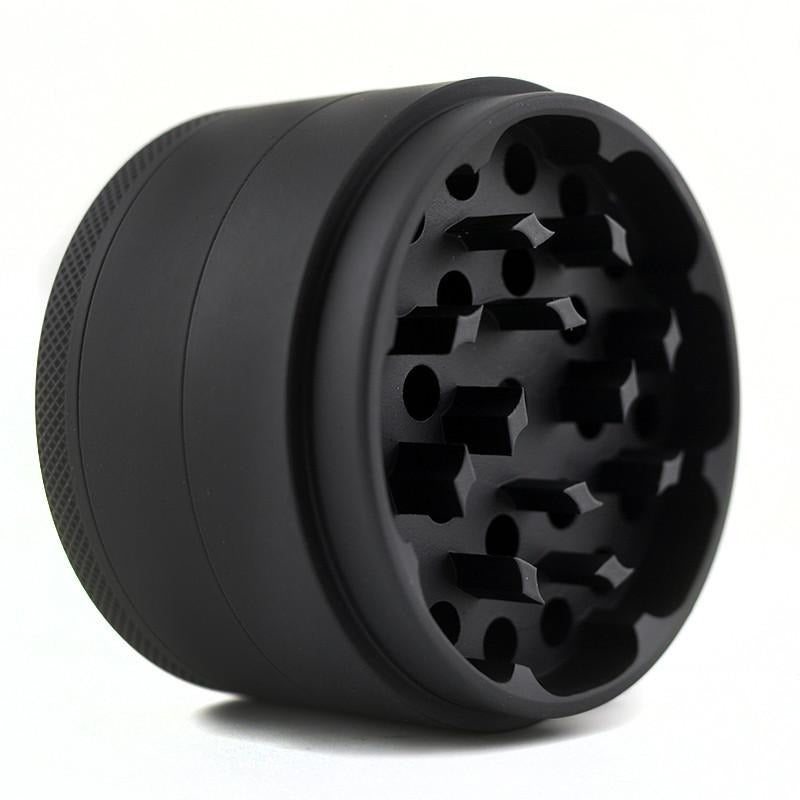 "2.5"" Aluminum 4-Piece Grinder - (Matte Black) - The Lux Brand"