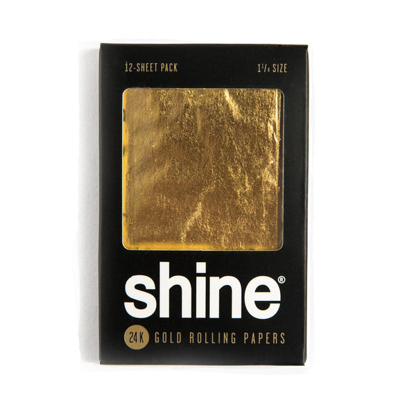 Shine® 24K Gold Rolling Papers | 12-Sheet Pack - The Lux Brand
