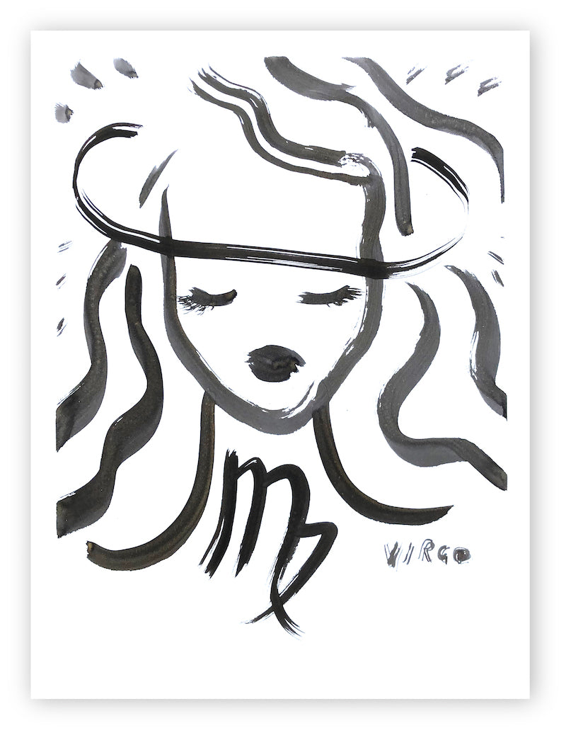 Virgo Original Ink Drawing