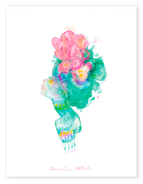 Flower Fairy Silhouette Open Edition Print