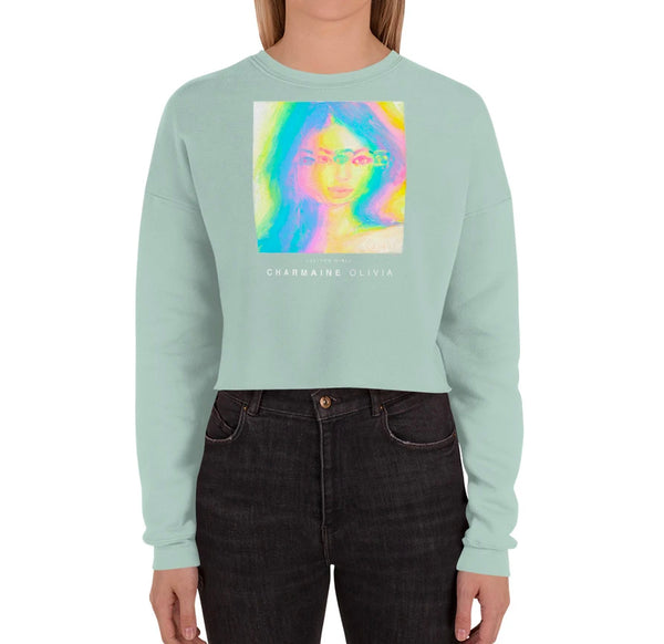 Glitch Girl Crop Sweatshirt
