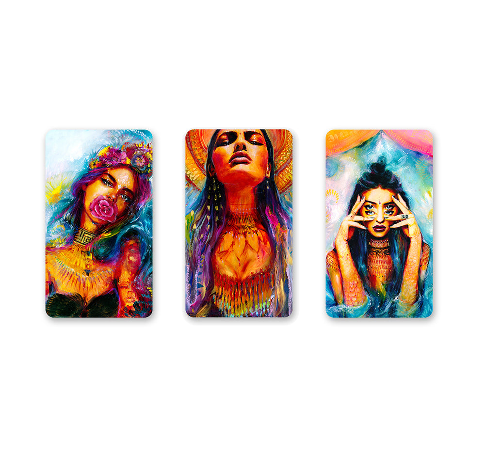Trio of Goddesses Magnet Set