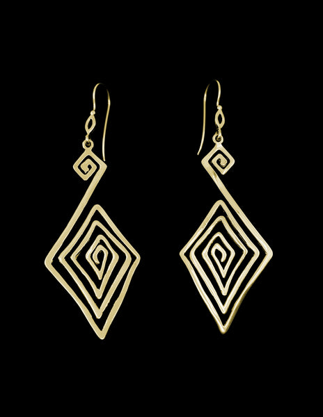 Maze Earrings (Gold Plated)