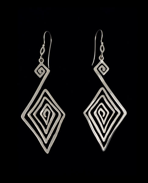 Maze Earrings (Sterling Silver)