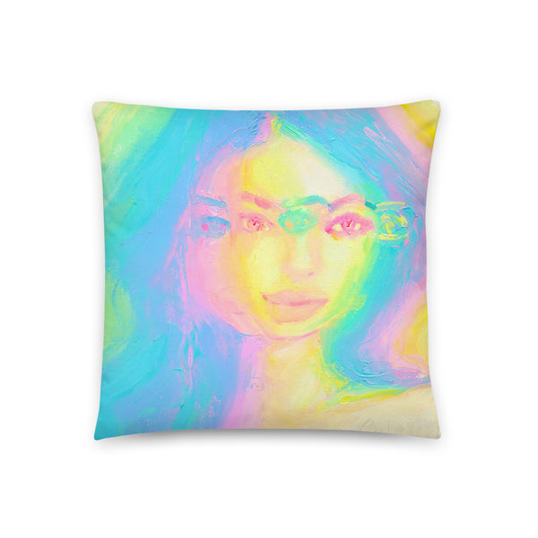 Glitch Girl Pillow