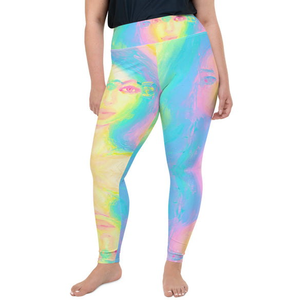 Glitch Girl Plus Size Yoga Leggings