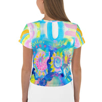 Lucy All-Over Crop Tee