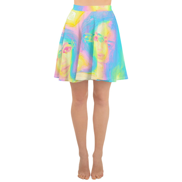 Glitch Girl Skater Skirt