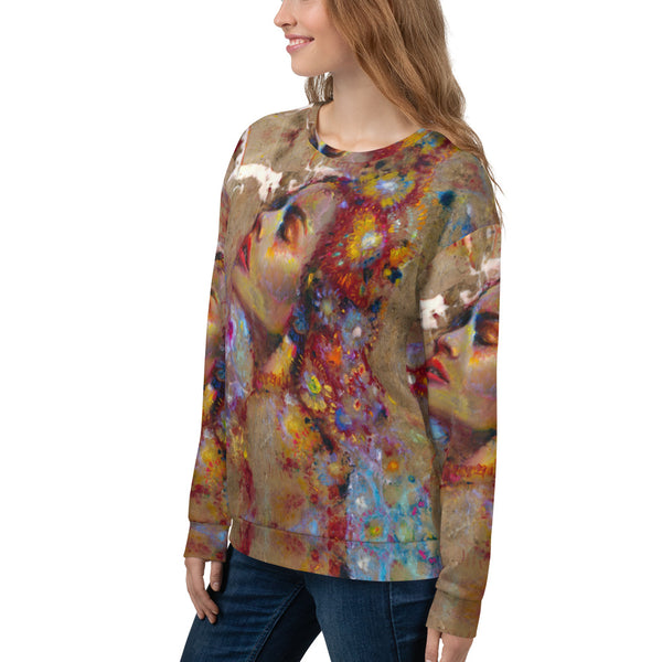 Flower Marble All Over Sweatshirt