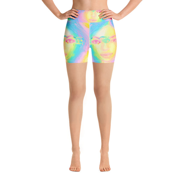Glitch Girl Yoga Shorts