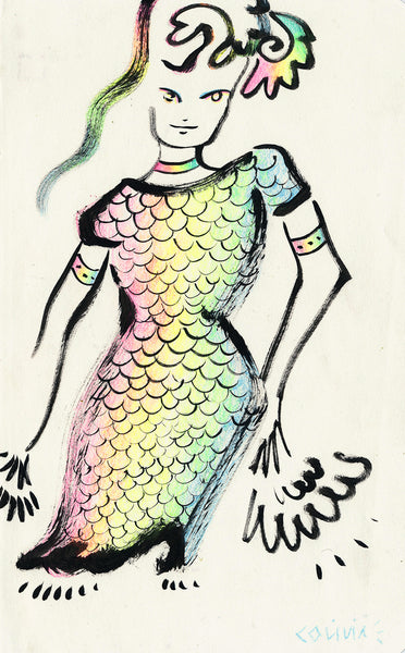 Rainbow Scales Original Drawing