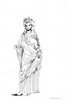 Tanagra Figurine 11 Original Drawing