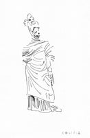 Tanagra Figurine 4 Original Drawing
