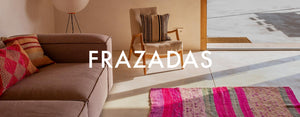 Frazada rugs and pillows