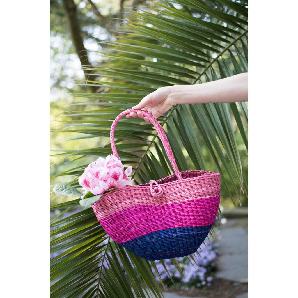 Basket Bag Basket Bag Summer Sommer Handmade