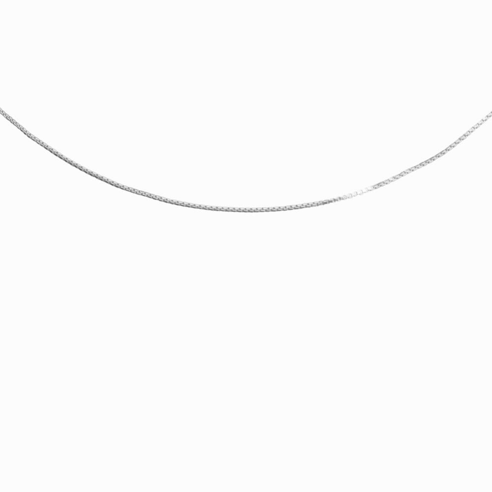 Box Chain Necklace in Silver