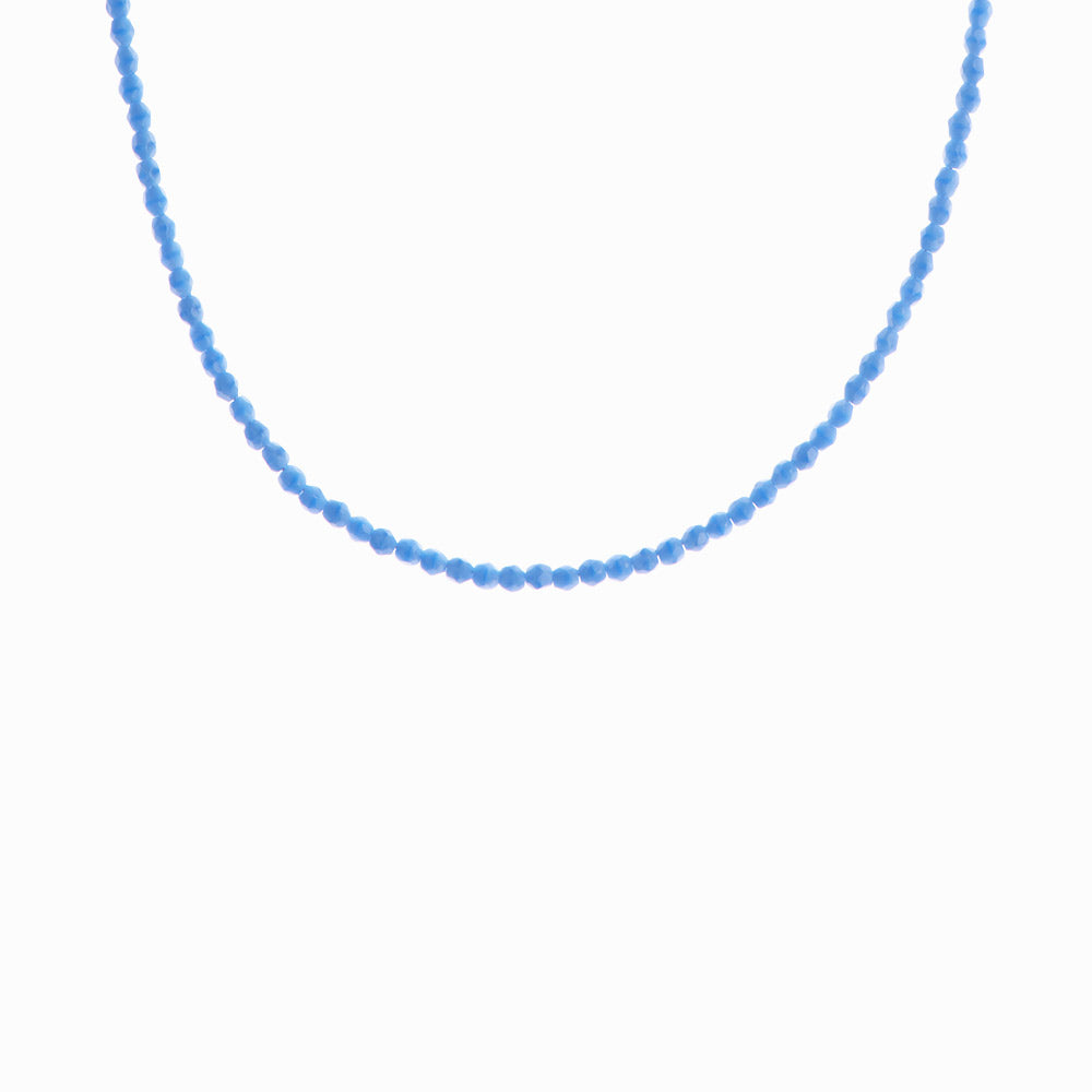 Glass Beaded Necklace - Blue Lagoon