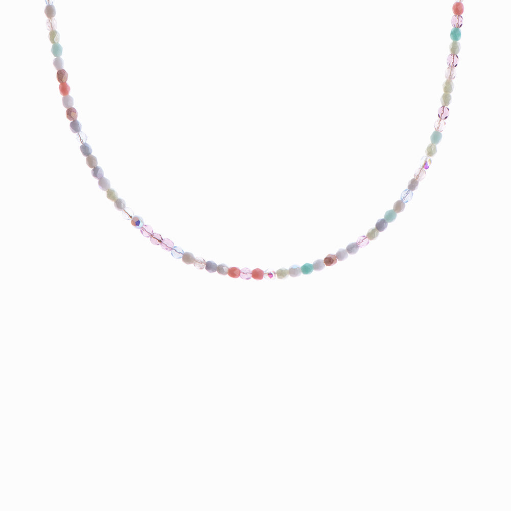 Glass Beaded Necklace - Rainbow