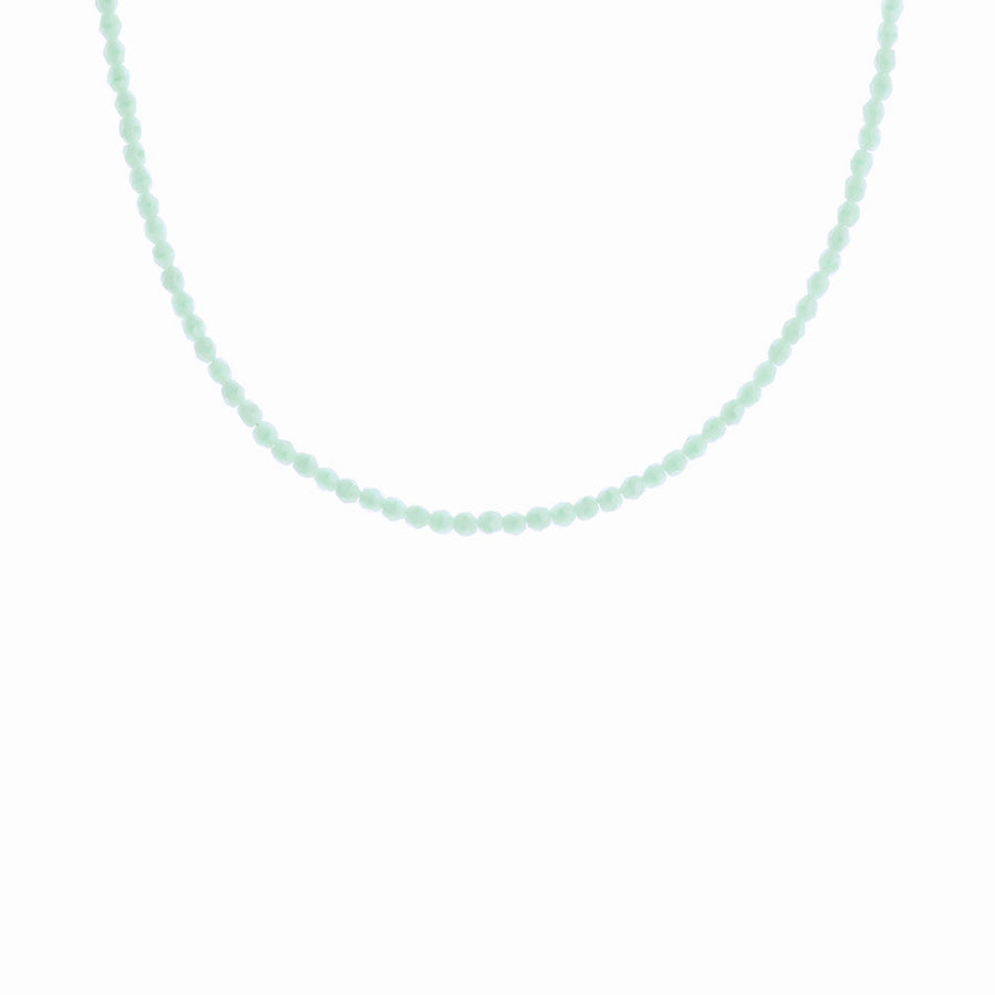 Glass Beaded Necklace - Mint Sorbet