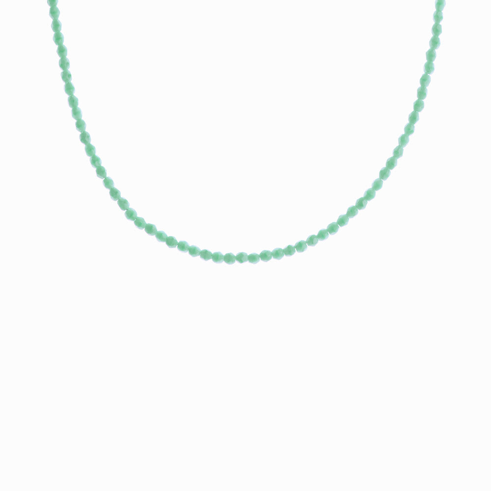 Glass Beaded Necklace - Turquoise Water
