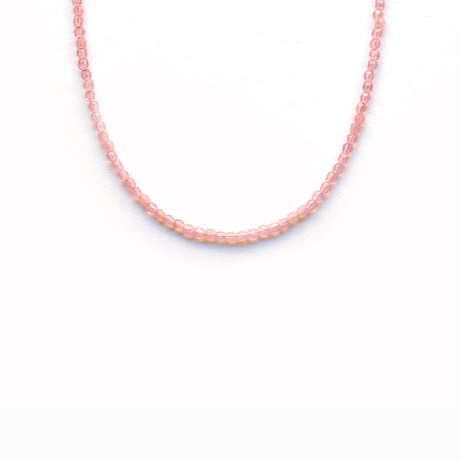 Glass Beaded Necklace - Apricot