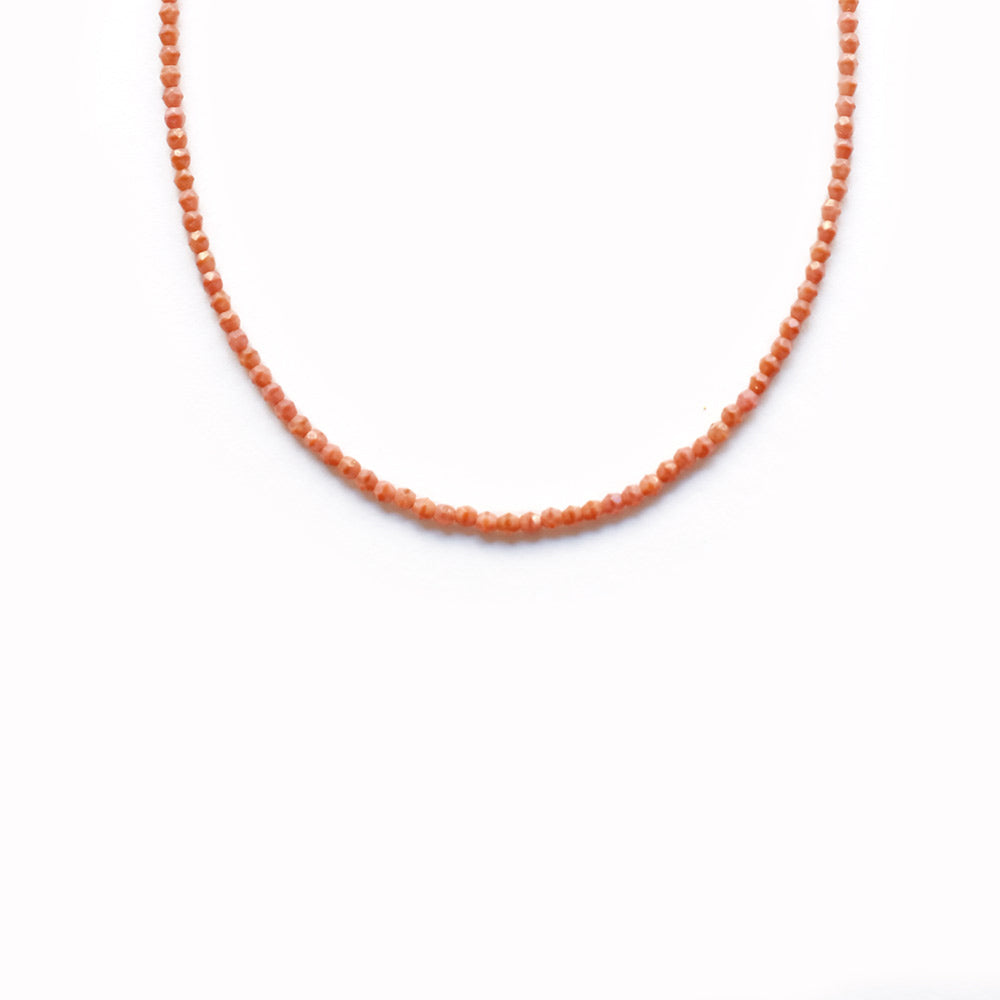 Glass Beaded Necklace - Coral Bay