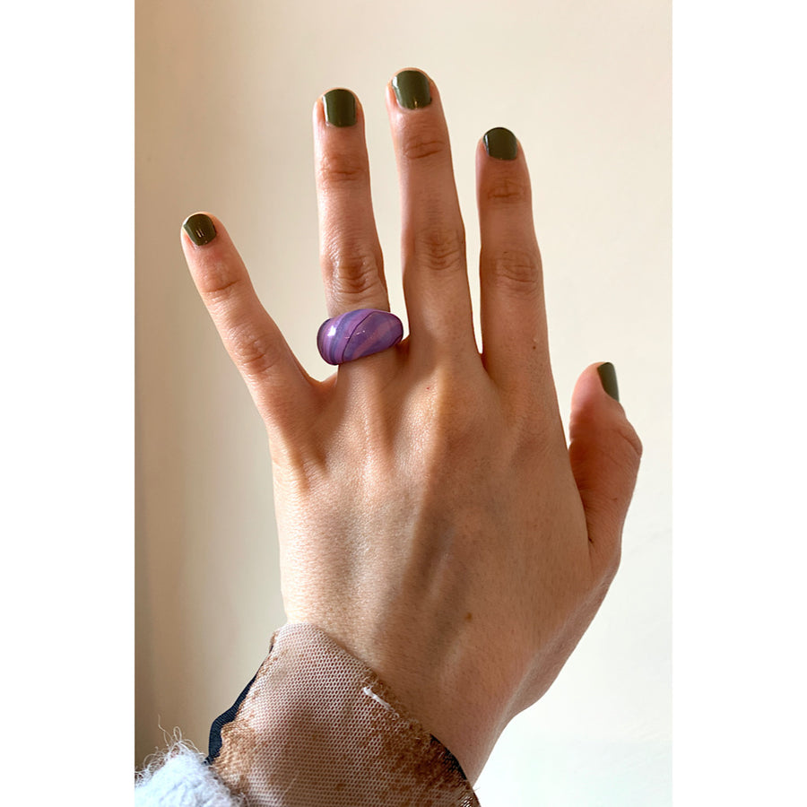 Il Marmo Ring Lilac/Blue