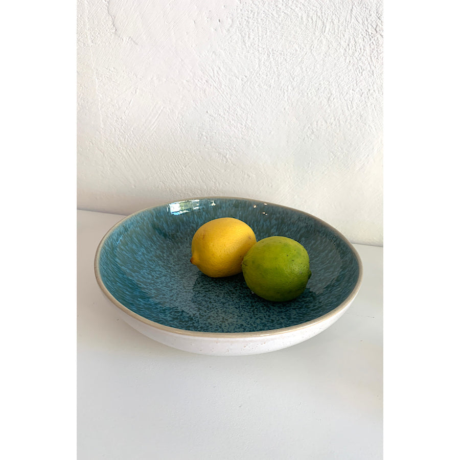 Ceramic Pasta bowl - Emerald Green