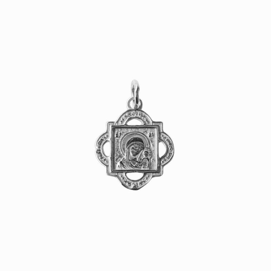 Madonna and Child Quatrefoil Pendant