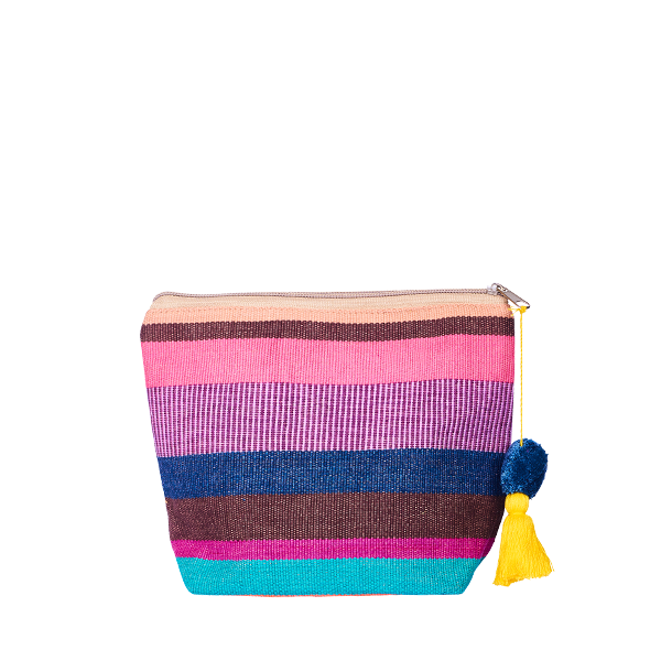 PomPom Cosmetic Bag Rainbow